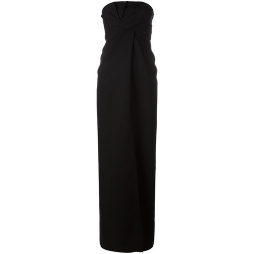SAINT LAURENT Strapless Bustier Long Dress