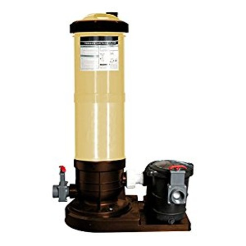 Splash Pools Pools Cartridge Filter System with 1.5 HP Pump, 150 Square Feet [Gray, 150 sq. ft.]