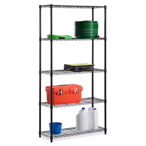 Honey-Can-Do 5-Tier Adjustable Storage Shelving Unit