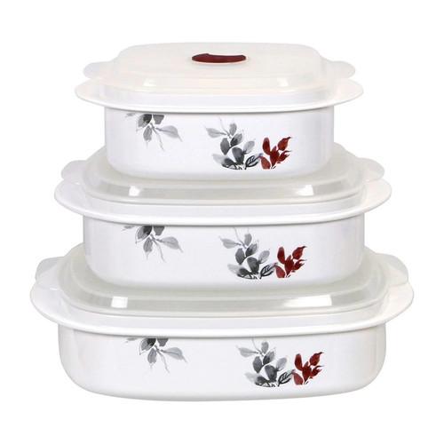 Corelle Kyoto Leaves 6-pc. Microwave Set