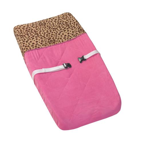 Sweet JoJo Designs Cheetah Girl Pink and Brown Changing Pad Cover