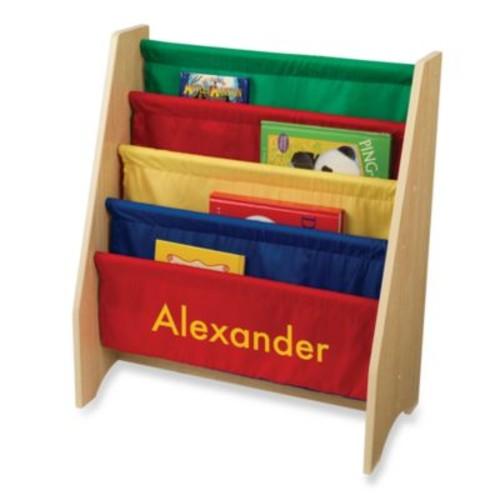 KidKraft Personalized Noah Boy's Sling Bookshelf Primary/Yellow
