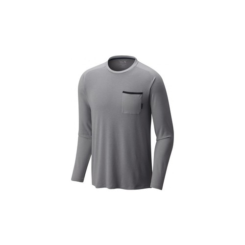 Mountain Hardwear CoolHiker Long Sleeve T - Mens 1707951073-XL, Color: Manta Grey, Size: Extra Large, Gender: Male,