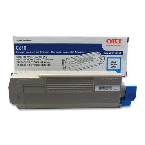 OKI 44315303 Toner Cartridge for C610 Series, Cyan