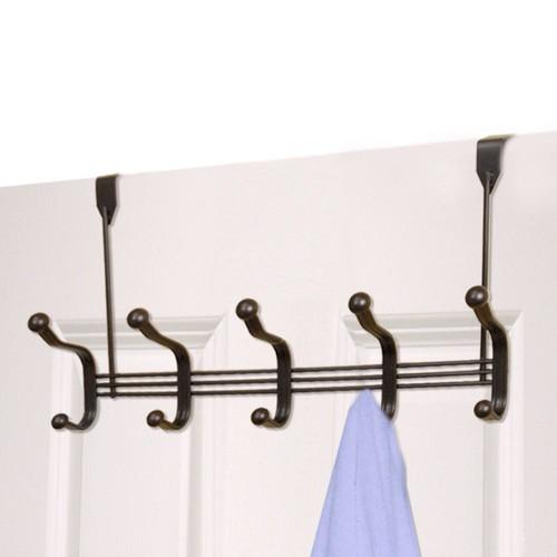 HOME basics Over-the-Door Bronze 5-Hook