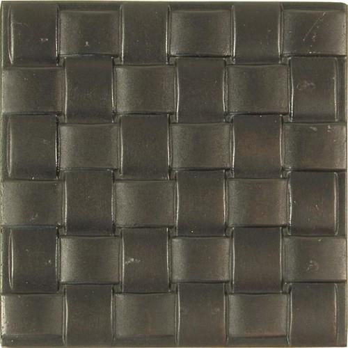 Basket Weave Dark Bronze Accent Tiles (Set of 4)