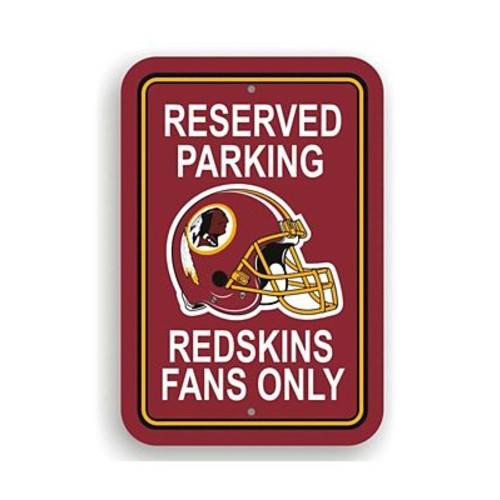 NeoPlex NFL Parking Sign; Washington Redskins