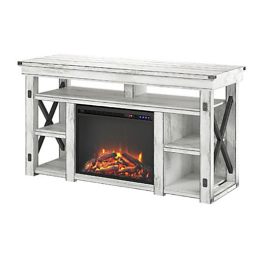 Ameriwood Wildwood Fireplace Melamine TV Stand For Flat-Panel TVs Up To 60