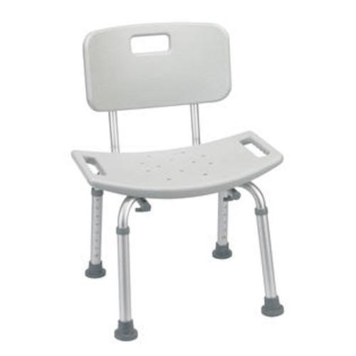 Drive Medical Grey Bathroom Safety Shower Tub Bench Chair with Back Model rtl12202kdr