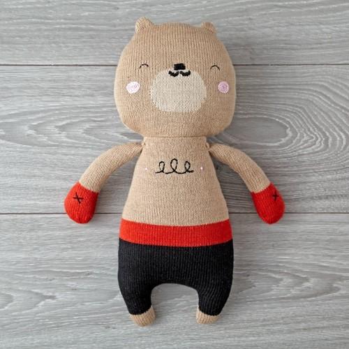 Lauvely Knit Boxing Bear Plush