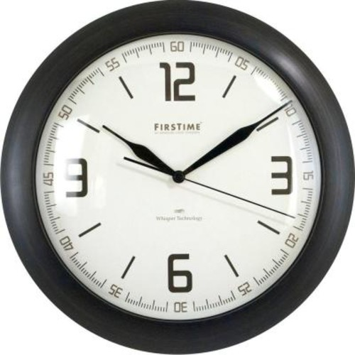 FirsTime 11 in. Round Linen Whisper Wall Clock