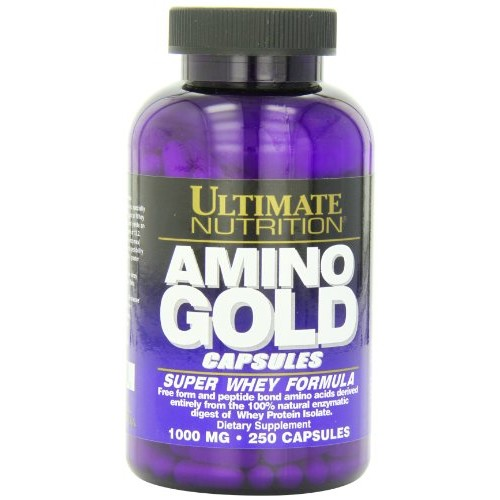 Ultimate Nutrition Amino Gold Capsules, 1000 mg, 250-Count Bottles