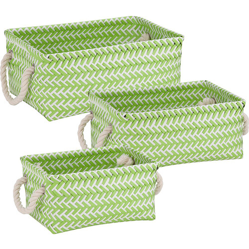 Honey-Can-Do Zig Zag Basket Set of 3 Green
