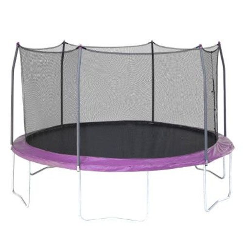 Skywalker Trampolines 15 foot Round Trampoline with Enclosure - Purple