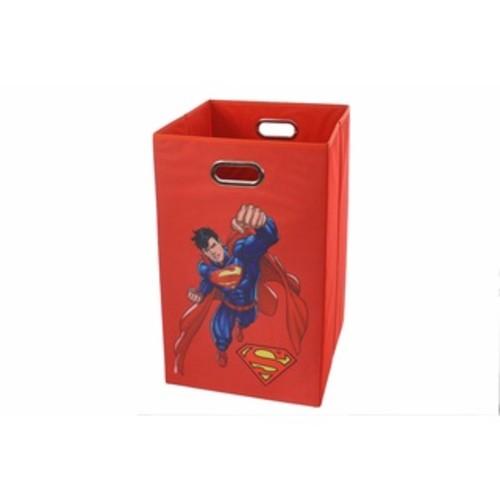 Superman Blue Folding Laundry Basket