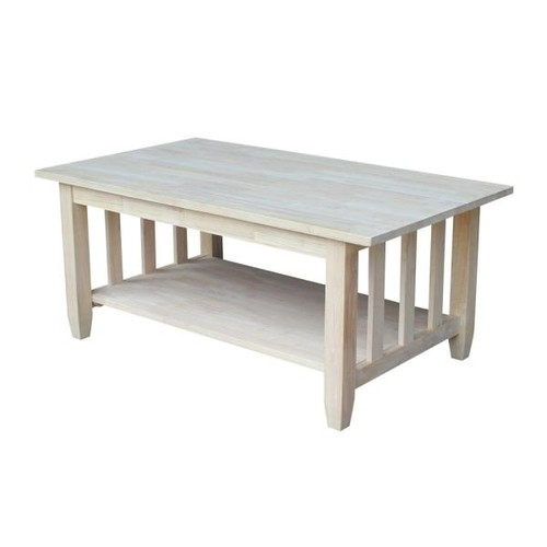International Concepts Unfinished Coffee Table