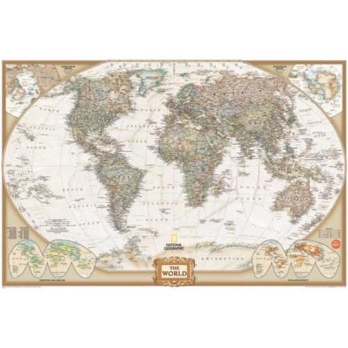 Wall Art Kit National Geographic World Map Wall Mural