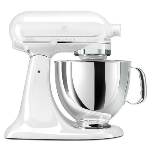 Kitchen Aid KitchenAid KSM150PSWW Artisan Series 5-Quart Mixer White on White