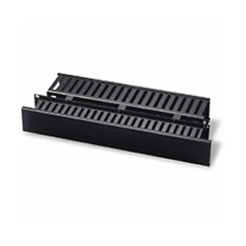 C2G 2u Horizontal Front and Rear Cable Management Panel - Cable management panel - black - (03747)