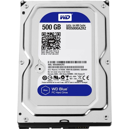 WD - Blue 500GB Internal SATA Hard Drive for Desktops