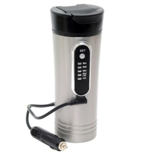 Roadpro 15 oz. Heated Travel Mug in Stainless Steel