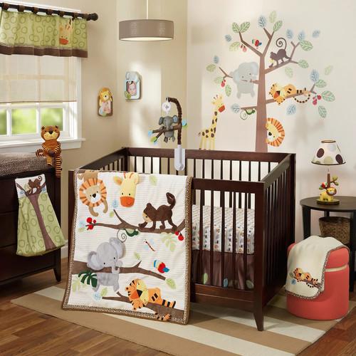 Lambs & Ivy Treetop Buddies 4-pc. Crib Bedding Set