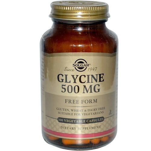 Solgar, Glycine, 500 mg, 100 Vegetable Capsules
