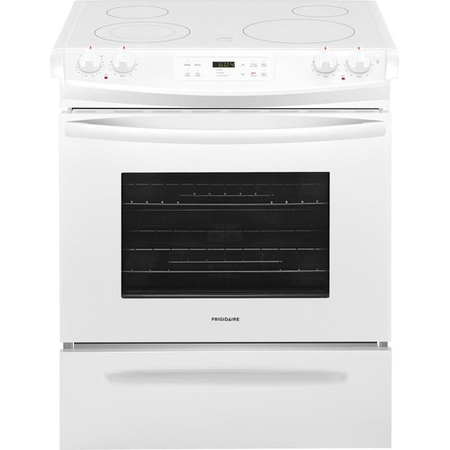 Frigidaire 30 in. 4.6 cu. ft. Slide-In Electric Range with Self-Cleaning Oven in White