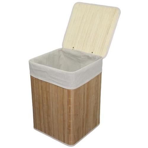 Bamboo Square Folding Laundry Basket