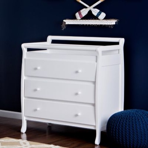 Dream On Me Liberty Collection 3 Drawer Changing Table, White [White]