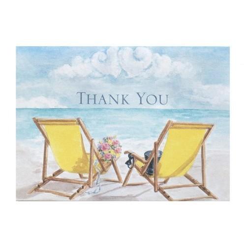 Hortense B. Hewitt Wedding Accessories Thank You Note Cards, Seaside Jewels, Pack of 50 [Seaside Jewels]