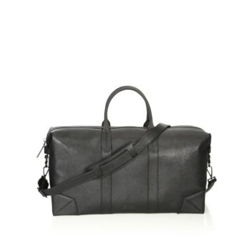 Zippered Leather Duffel Bag