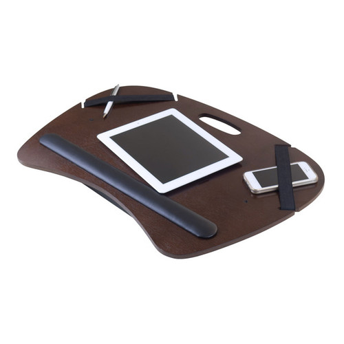 Winsome Kane Brown Wood/Metal Tablet Lap Desk With Cushion