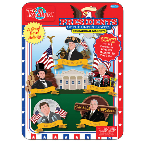 TS Shure Presidents Of The United States Magnetic Tin Playset