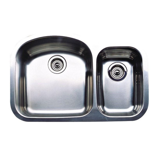 Blanco Wave Plus Undermount Stainless Steel 32 in. 1-1/2 Bowl Kitchen Sink