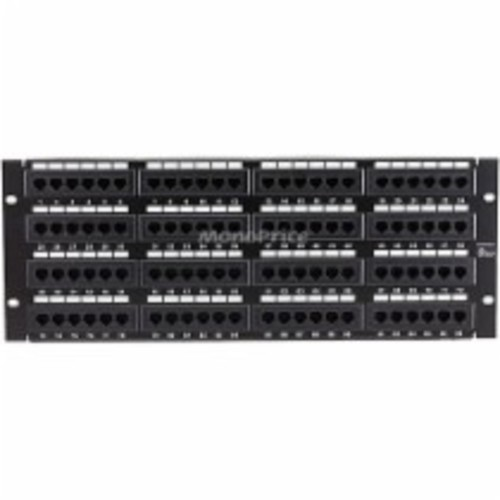 Monoprice - Cat5 Enhanced Patch Panel 110Type 96 port (568A/B Compatible) - Black