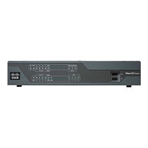 Cisco 891F Router - ISDN/Mdm, 8-port switch, GigE, rack-mountable - C891F-K9