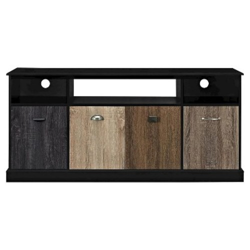 Ameriwood Home Blackburn TV Console with Multicolored Door Fronts for TVs up to 60