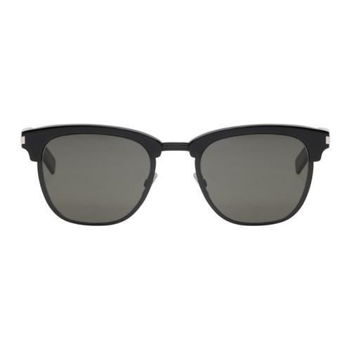 SAINT LAURENT Black Iconic Sl 108 Re-Edition Sunglasses