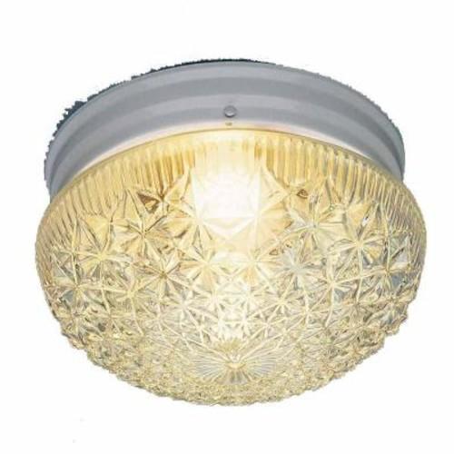 Filament Design Lenor 1-Light White Incandescent Ceiling Flushmount