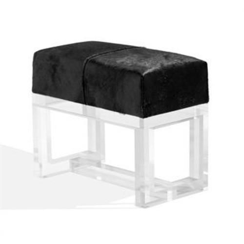 Avalon Black Hide Stool design by Interlude Home