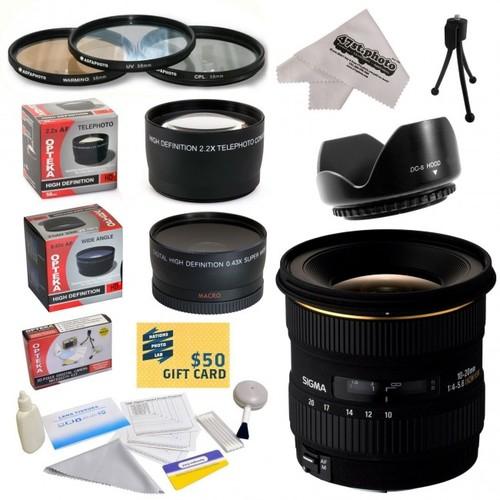 Sigma 10-20mm f/4-5.6 EX DC HSM Autofocus Lens For The Pentax ist D, ist DS, ist DS2, ist DL, ist DL2, K10D, K20D, K-m,