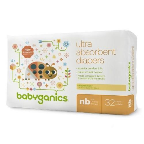 Babyganics Diapers Jumbo Bag - Newborn (32 ct)