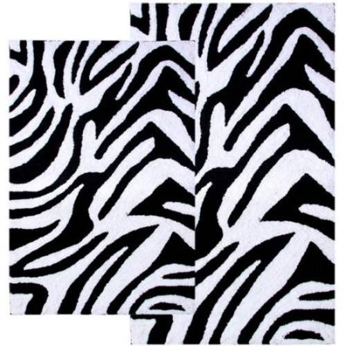 Chesapeake Merchandising Inc. 2-Piece Zebra Bath Rug Set