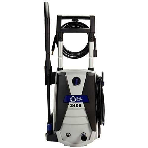 AR Blue Clean AR240S 1,700 PSI Electric Pressure Washer, Nozzles, Spray Gun, Wand, Detergent Tank & Hose