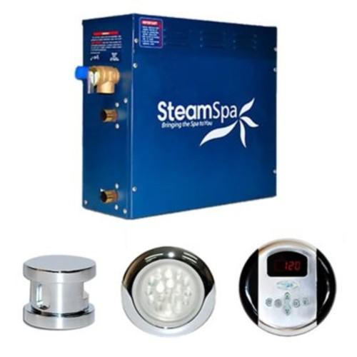Steam Spa SteamSpa Indulgence 6 KW QuickStart Steam Bath Generator Package; Chrome