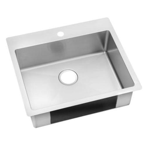 Elkay Crosstown Undermount Stainless Steel 24 in. Single Bowl Kitchen Sink