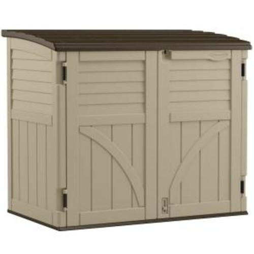 Suncast 2 ft. 8 in. x 4 ft. 5 in. x 3 ft. 9.5 in. Resin Horizontal Storage Shed