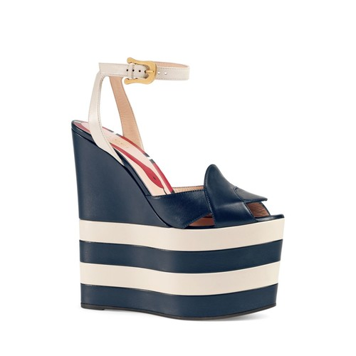 GUCCI Sally Platform Wedge Sandals