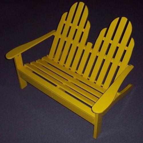 Prairie Leisure Design Adirondack Settee Wood Garden Bench; Black